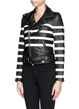 Front View - Click To Enlarge - EACH X OTHER - X Robert Montgomery lamb leather jacket