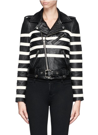 Main View - Click To Enlarge - EACH X OTHER - X Robert Montgomery lamb leather jacket