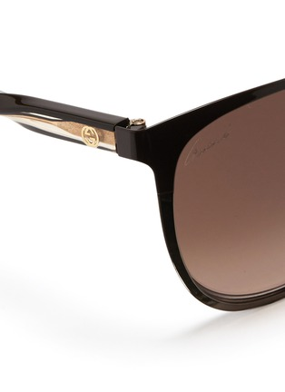 Detail View - Click To Enlarge - Gucci - Twist temple two-tone metal sunglasses