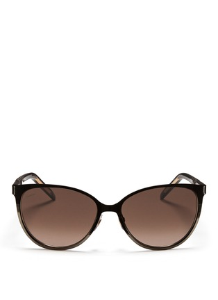 Main View - Click To Enlarge - Gucci - Twist temple two-tone metal sunglasses