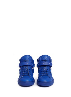 Giuseppe Zanotti Design 'Taylor Junior' double zip leather kids sneakers