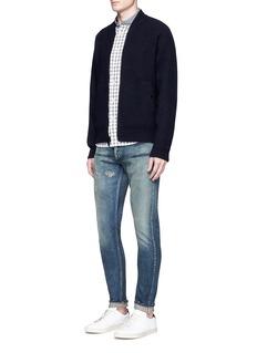 Denham'Razor' slim fit distressed jeans