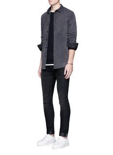 Denham'Pack' cotton flannel shirt