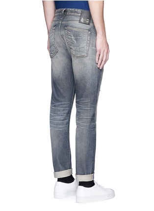 Back View - Click To Enlarge - Denham - 'Razor' slim fit Candiani selvedge jeans