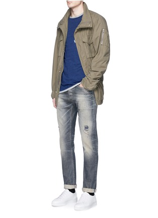 Figure View - Click To Enlarge - Denham - 'Razor' slim fit Candiani selvedge jeans