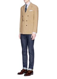LardiniFloral print linen-cotton hopsack shirt
