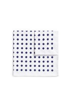 LardiniDot print floral eyelet jacquard pocket square