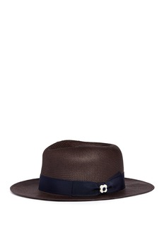 Lardini Floral pin band paper straw hat