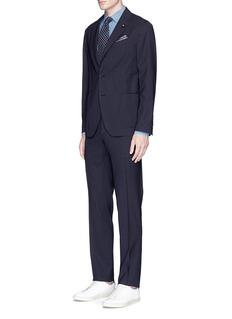 Lardini'Easy Wear' packable check wool travel suit