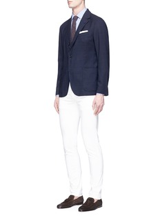 Lardini Reversible wool blend jersey soft blazer