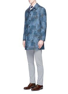 LardiniReversible tree print cotton-linen coat