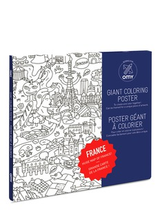 Omy Giant Colouring Poster — France