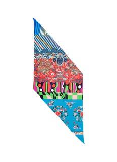 Pierre-Louis MasciaDragon geometric print silk twill scarf