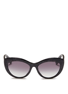 Alexander McQueen Shell effect acetate cat eye sunglasses