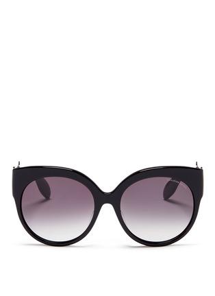 Main View - Click To Enlarge - Alexander McQueen - Skull filigree oversized acetate sunglasses