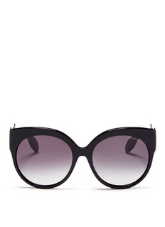 Alexander McQueen Skull filigree oversized acetate sunglasses