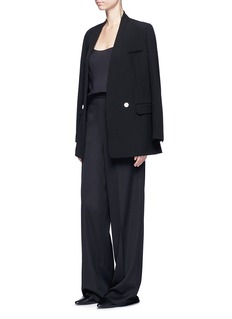 Helmut Lang Double breasted technical suiting blazer