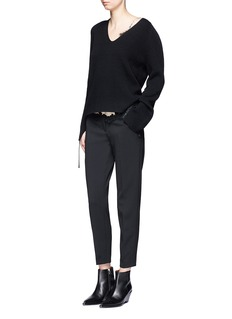 Helmut LangLace up sleeve wool-cashmere sweater