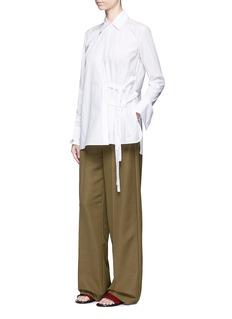 Helmut LangTie side cotton poplin shirt