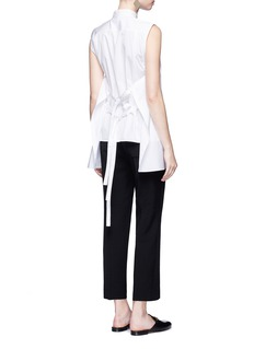 Helmut LangSelf-tie apron back cotton poplin shirt