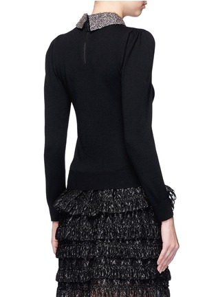 Back View - Click To Enlarge - alice + olivia - 'Era' embellished collar wool sweater