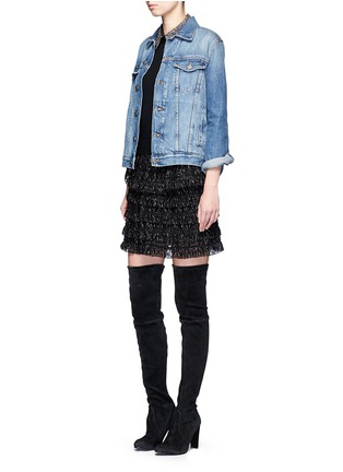 Figure View - Click To Enlarge - alice + olivia - 'Era' embellished collar wool sweater