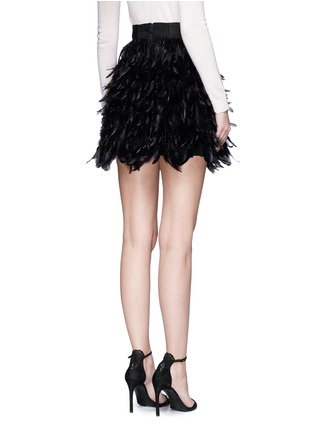 Back View - Click To Enlarge - alice + olivia - 'Cina' feather flared mini skirt