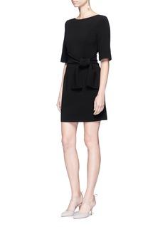 alice + olivia'Virgil' wrap waist boat neck dress