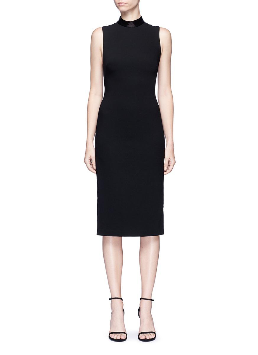 Lanora satin trim open back dress by alice + olivia