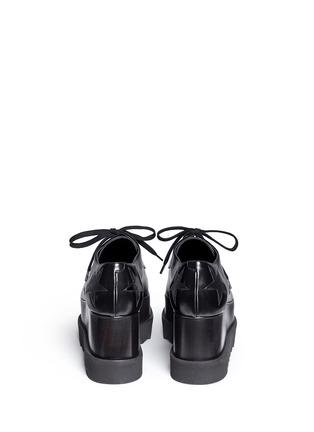 背面 - 点击放大 - STELLA MCCARTNEY - ELYSE绒面星星装饰坡跟系带鞋