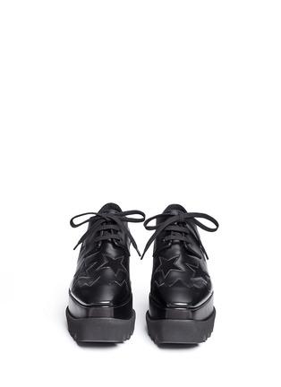 正面 - 点击放大 - STELLA MCCARTNEY - ELYSE绒面星星装饰坡跟系带鞋
