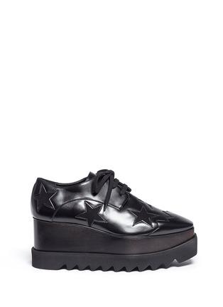 首图 - 点击放大 - STELLA MCCARTNEY - ELYSE绒面星星装饰坡跟系带鞋