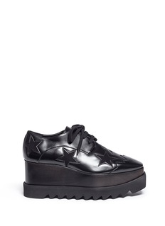 Stella McCartney 'Elyse' velvet star alter nappa wood platform derbies