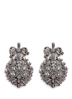 ANABELA CHAN'Mirage' diamond 18k black gold plated silver drop earrings