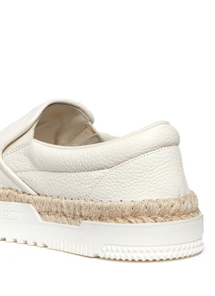 Detail View - Click To Enlarge - Valentino - Leather espadrille skate slip-ons