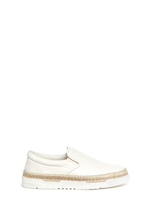 Main View - Click To Enlarge - Valentino - Leather espadrille skate slip-ons