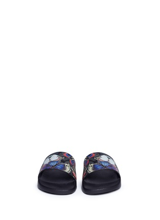 Front View - Click To Enlarge - Valentino - 'Camubutterfly' print slide sandals