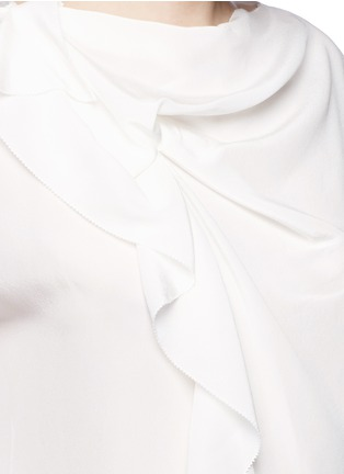 Detail View - Click To Enlarge - 3.1 Phillip Lim - Ruffle sleeveless silk top