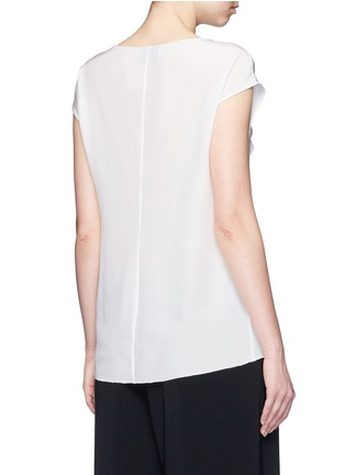 Back View - Click To Enlarge - 3.1 Phillip Lim - Ruffle sleeveless silk top