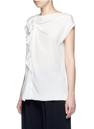 Front View - Click To Enlarge - 3.1 Phillip Lim - Ruffle sleeveless silk top