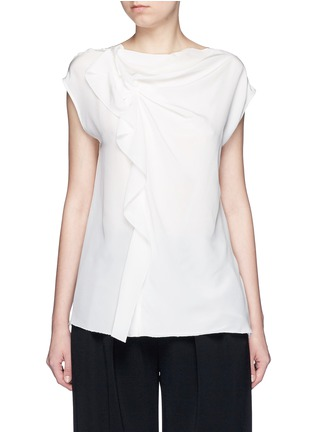 Main View - Click To Enlarge - 3.1 Phillip Lim - Ruffle sleeveless silk top