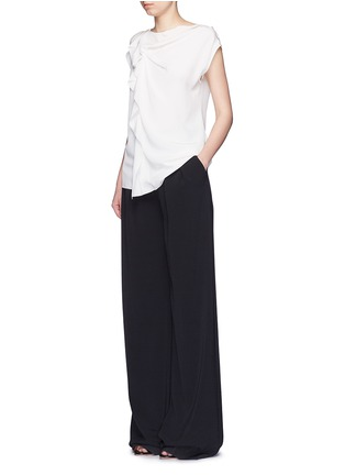 Figure View - Click To Enlarge - 3.1 Phillip Lim - Ruffle sleeveless silk top