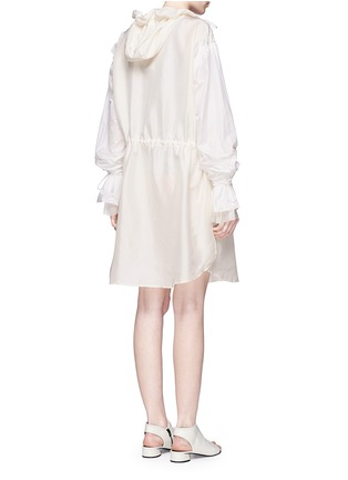 Back View - Click To Enlarge - 3.1 Phillip Lim - Ruffle sleeve long silk anorak