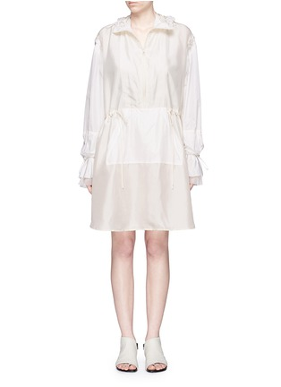 Main View - Click To Enlarge - 3.1 Phillip Lim - Ruffle sleeve long silk anorak