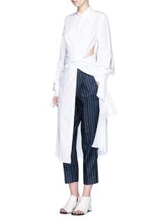 3.1 PHILLIP LIMCotton poplin sash waist shirt dress