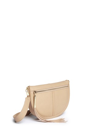 Front View - Click To Enlarge - Elizabeth and James - 'Scott Mini Moon' leather shoulder bag