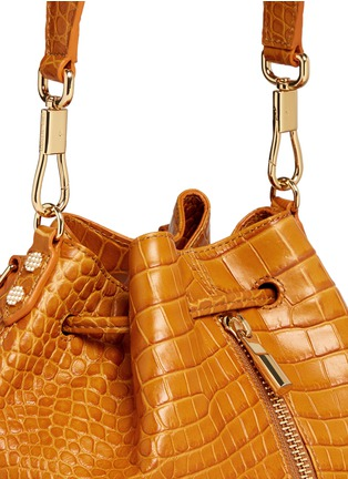 - Elizabeth and James - 'Cynnie Sling' croc effect leather bucket bag