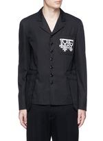 Medallion embroidery uniform jacket