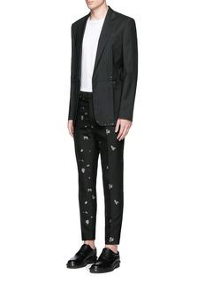 Alexander McQueenMending jacquard cotton-wool pants