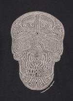 骷髅头刺绣纯棉T恤